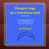 Los Angeles Chargers Logo on the Coordinate Plane
