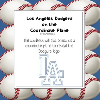 Los Angeles Dodgers Logo on the Coordinate Plane