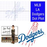 Los Angeles Dodgers MLB Coordinate Graphing Picture