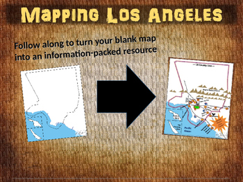 Los Angeles Map Activity - fun, engaging, follow-along 25-slide PPT