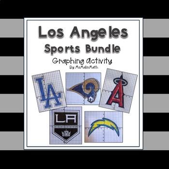 Los Angeles Sports Bundle - a Coordinate Plane Graphing Activity