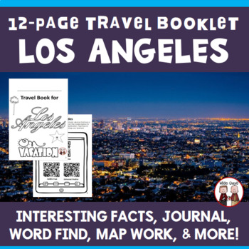 los angeles vacation travel booklet by wise guys tpt