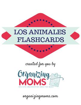 Los Animales - Animals - Spanish Flash Cards