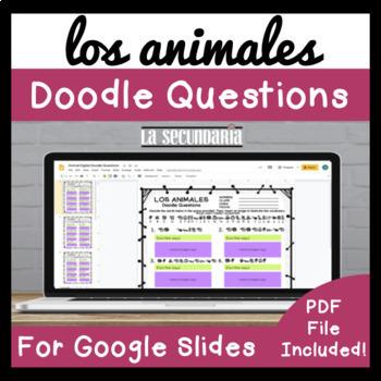 Los Animales Doodle Questions