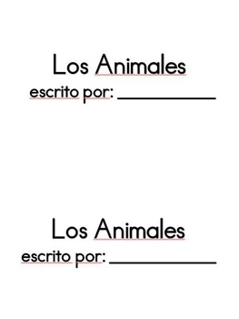 Los Animales - Easy Reader Book in Spanish