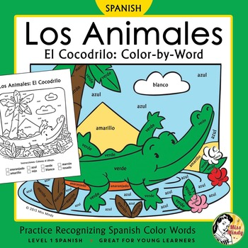 Los Animales: El Cocodrilo ~ Recognizing Spanish Color Nam