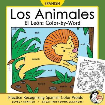 Los Animales: El León ~ Recognizing Spanish Color Names Co