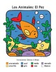 Los Animales: El Pez ~ Recognizing Spanish Color Names Color-by-Word