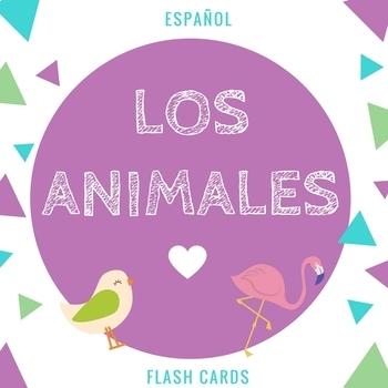 Los Animales Flashcards Spanish