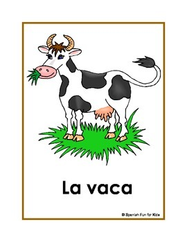 Los Animales (Large Flash Cards)