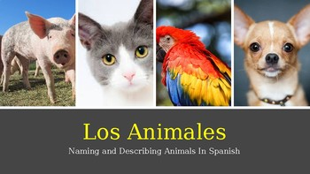 Los Animales: Naming and Describing Animals in Spanish