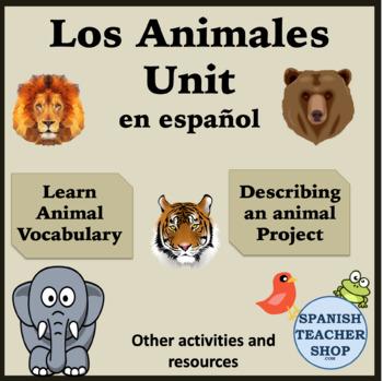 Los Animales: Spanish Animal Unit