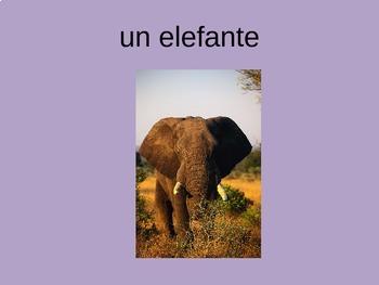 Los Animales Spanish Animal Vocabulary Power Point ppt