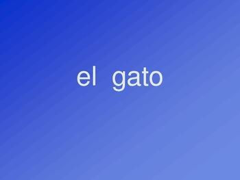 Los Animales-Spanish Vocabulary Presentation
