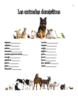 Los Animales Unit Packet