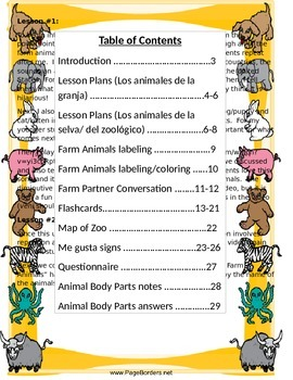 Los Animales Unit Plan