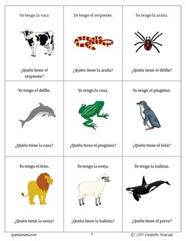Los Animales Vocabulary Games Pack