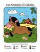 Los Animales de Granja El Caballo Spanish Colors Color-by-