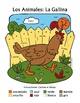 Los Animales de Granja: El Gallo y La Gallina Spanish Color-by-Word Farm Animals