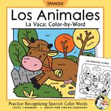 Los Animales de Granja: La Vaca Spanish Colors ~Color-by-Word Cow, Farm Animals