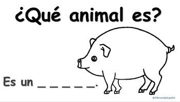 Los Animales de la Granja: Booklet and activity.