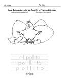 Los Animales de la Granja - Farm Animals -  Coloring Pages