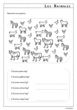 Farm Animals in Spanish - Los Animales de la Granja - Activity Pack
