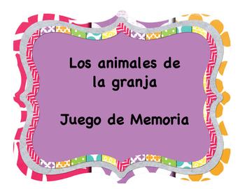 Los Animales de la Granja Juego de Memoria