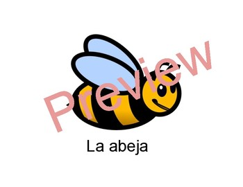 Los Animales en Español - Animals in Spanish - PowerPoint/Cards