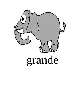 Los Animales/Animals Pictures with Adjectives