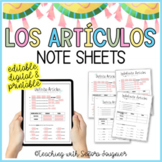 Los Artículos - Spanish Articles
