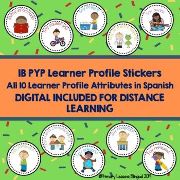 Los Atributos del Aprendiz de IB - PYP Learner Profile Stickers