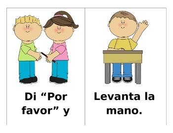 Los Buenos Modales Behavior Reminders SPANISH