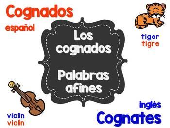 Los Cognados-Palabras Afines / Cognates English-Spanish