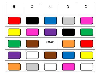 Los Colores BINGO- Spanish Colors Vocabulary