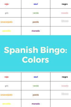 Los Colores Bingo