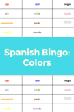 Spanish Bingo: Colors