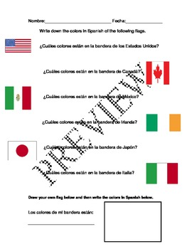 Los Colores-Color Lesson Plans with Handouts, Flashcards, and PowerPoints