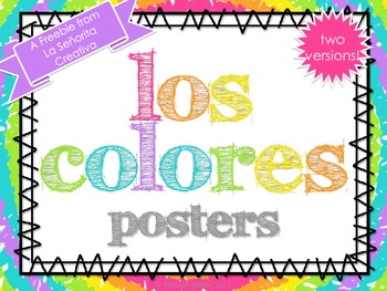 Los Colores - Color Posters in Spanish