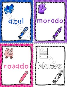 Spanish Color Posters : Los Colores - Colors in Spanish - Posters & Flashcards