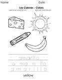 Los Colores - Colors - Páginas para Colorear - Coloring Pages