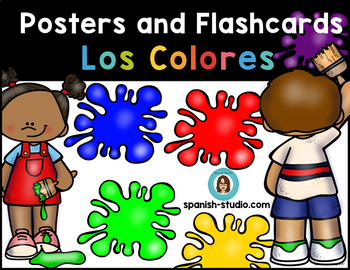 Los Colores/ Colors. Posters and Flashcards (Spanish)