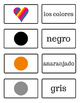 Los Colores - Colors - Spanish Flash Cards