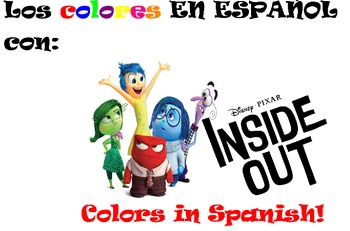 Los Colores- Colors in Spanish! A Smart Board Lesson with Disney's Inside Out