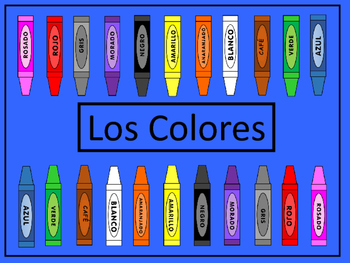 Los Colores Card Games # 2- Spanish Colors Vocabulary