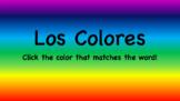 Los Colores Interactive (Spanish Colors Practice)