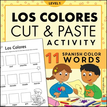 Los Colores Magazine Cut and Paste Worksheet