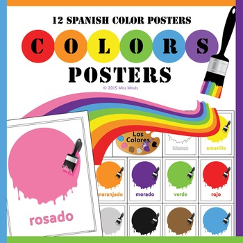 Los Colores Spanish Colors Posters - Bulletin Board Printables