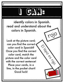 Los Colores - Read and Sort
