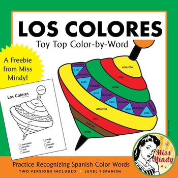 Los Colores Recognizing Spanish Color Names Coloring Works